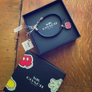 NWT Limited Edition Coach x Disney charm bracelet